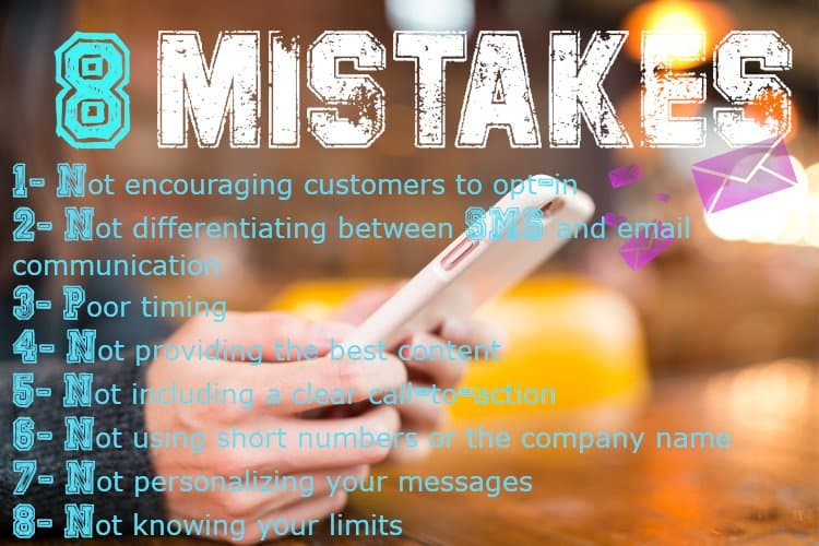 8 Mistakes You Can Make With SMS Marketing